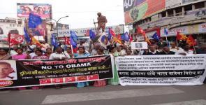 No to Obama - Nagpur rally