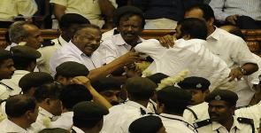 UDF manhandled LDF MLAs in Kerala Assembly.